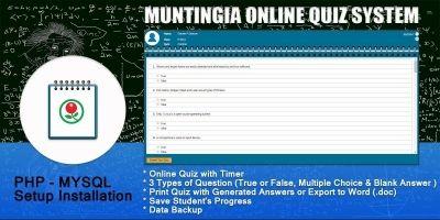 Muntingia Quiz System PHP Script