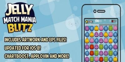 Jelly Match Mania - iOS Game Source Code