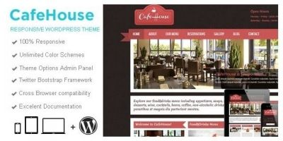 CafeHouse - Restaurant Wordpress Theme