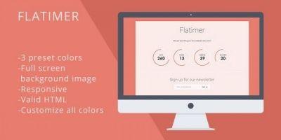 Flatimer - Coming soon HTML Template