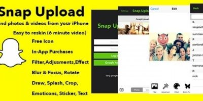 Snap Upload - iOS App Source Code
