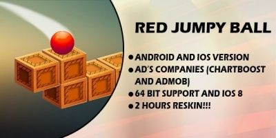 Jump Red Ball - Android and iOS Game Source Code