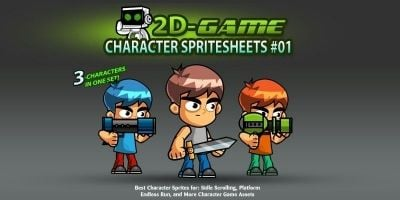 2D Game Character SpriteSheets 01