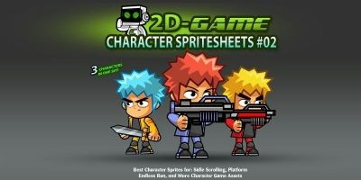 2D Game Character SpriteSheets 02
