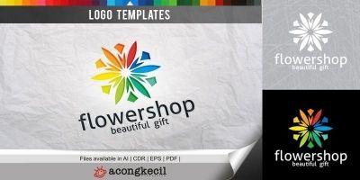 Flower Shop - Logo Template
