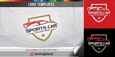 Sports Car - Logo Template
