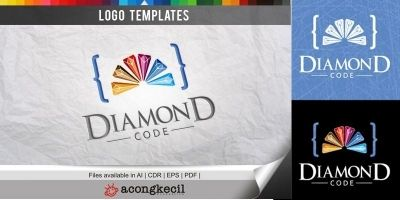 Diamond Code - Logo Template