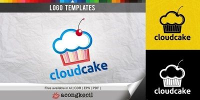 Cloud Cake - Logo Template