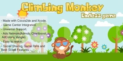 Climbing Monkey Endless Game - iOS Source Code