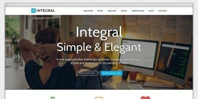 Integral - Responsive Parallax WordPress Theme