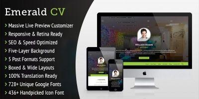 Emerald CV - WordPress Resume Theme