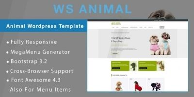 WS Animal - Animal WooCommerce Theme