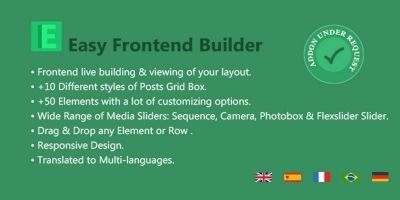 Easy FrontEnd Builder - WordPress Plugin