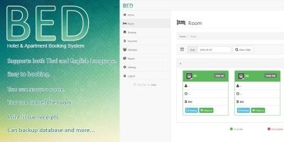 BED - Hotel Booking System PHP Script