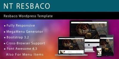 NT Resbaco – Wordpress Restaurant Theme