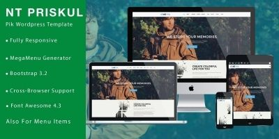 NT PIK –  Photography WordPress Theme