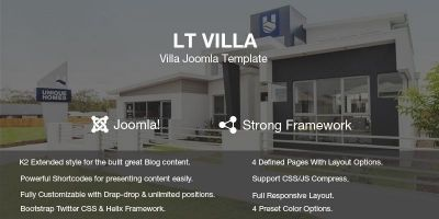 LT Villa – Modern Villa Joomla Template