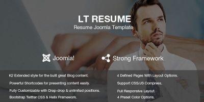 LT Resume – Personal CV Resume Joomla Template