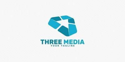 Three Media - Logo Template