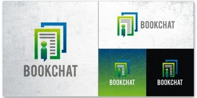 Book Chat Logo Template