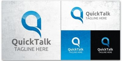 Quick Talk - Logo Template