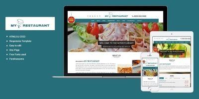 MyRestaurant - OnePage HTML Template