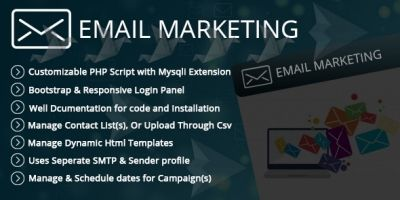 Email Marketing Manager - PHP Script