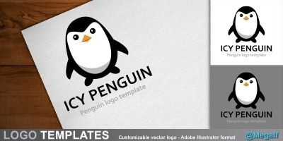 Icy Penguin - Logo template