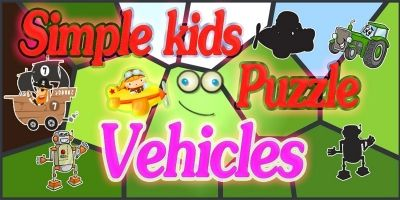 Simple Kids Puzzle Vehicles - Unity Source Code