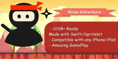 Ninja Adventure - iOS Game Template