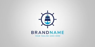 Ship Anchor Logo Template
