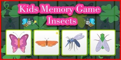 Kids Memory Game Insects - Unity Template
