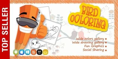 Birds Coloring Game - iOS Source Code