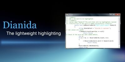 Dianida - Syntax Highlighting Control for .NET