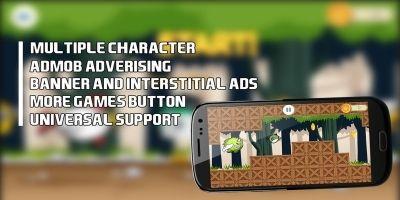 Jungle Flappy Bird - Buildbox Game Template