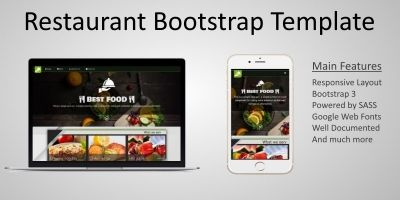 Restaurant Bootstrap HTML Template