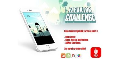 Elevator Challenge - iOS Xcode Game Source Code