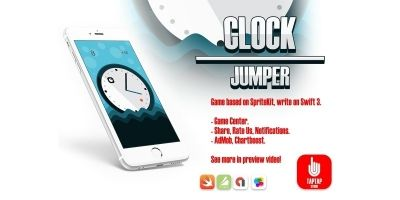Clock Jumper - iOS Xcode Game Template