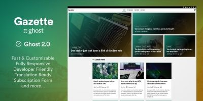 Gazette - Responsive Magazine Ghost Theme