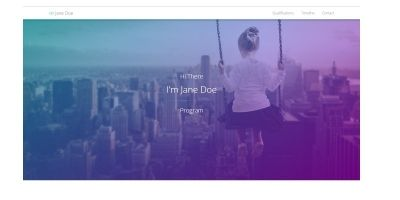 Resume Web Template With Timeline