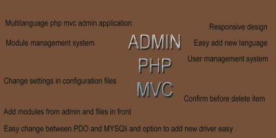 Admin PHP MVC Application