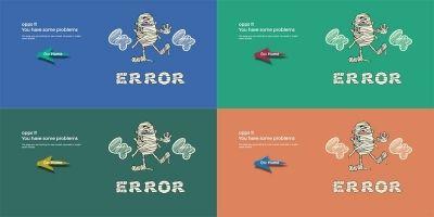 404 Mummy - Animated 404 Error Page