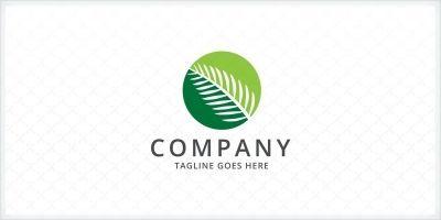 Palm Leaf Logo Template
