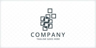 8 eight Squares Logo Template