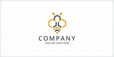 Hexagon Bee Logo Template