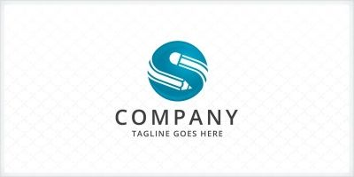 Pencil - Letter S Logo Template