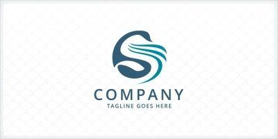 Stylized Swan - Letter S Logo Template