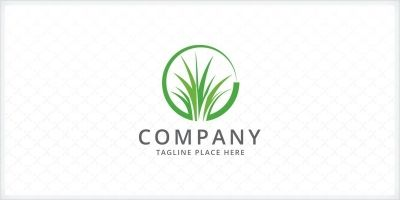 Grass - Lawn Care Logo Template