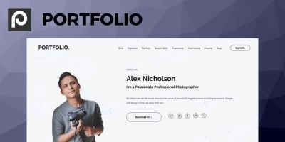 SitePoint Portfolio WordPress Theme