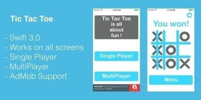 Tic Tac Toe - iOS Game Source Code